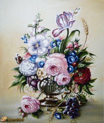 Букет цветов на светлом фоне